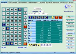 Vue d 39 ensemble du logiciel euro millions expert - Keno resultat grille gain ...